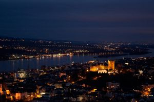 Bingen at Nighttime by aschmitt