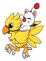 Chocobo and Moogle Tattoo by kelly42fox