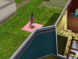 Sims 3 - Denise and I head to the picnic blanket by Magic-Kristina-KW