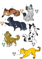 Female Warrior Cat Breedables 1 ~ON HOLD~ by SkylarCat