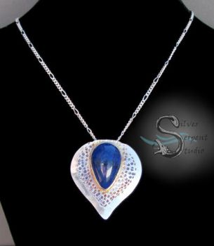 Lapis Lazuli Pendant - sterling silver by PurlyZig