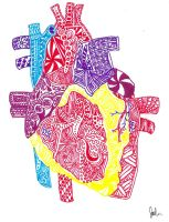 Zentangle Heart by Imprensibilis