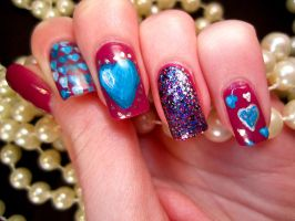 Valentine Heart Nail Art by soyoubeauty