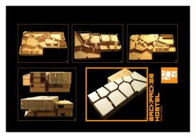 Hostel Physical Model by sbstnce