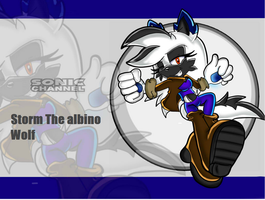 PC:1/2. Sonic Channel Storm the albino wolf by Xalisha-light-azureX