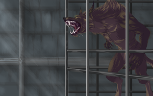 Caged rage by Roiuky