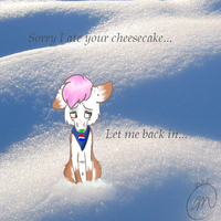 I'm sorry I ate your cheesecake.. by iGingie