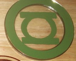 Green Lantern glass coaster by cutiechibi