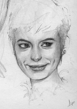 Thumbnail Sketch - Anne Hathaway by AaronGriffinArt