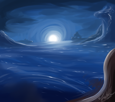 Dreaming of Oceans While Jumping in Puddles~ by ScottishRedWolf