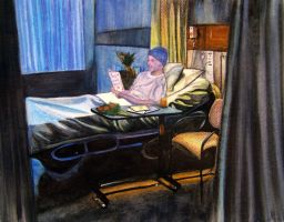 Patient In Hospital Bed by SanTighty