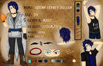OC Reference Sheet: Quinn Diezan by SidStraws
