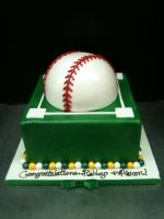 Oakland A's Cake by Spudnuts