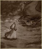 Nienor and Glaurung by Kalliroe