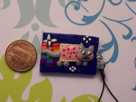 Nyan Cat--Poptart Cat--Charm by QuoteCentric