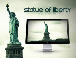 Statue of Liberty - Wallpaper by Hercules1997
