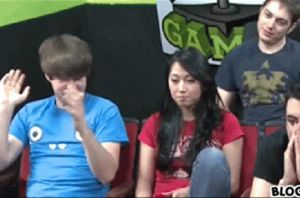 Smosh: Ian's evil smile/glare/clap (GIF) by lotus-love345