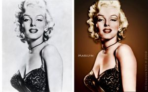 Marilyn B4 and After Color by xgnyc