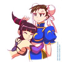 Queen(or Princess)Chun-Li and slave cammy by strongestqueenchunli