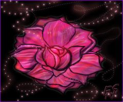 Glowing Rose by Kraheera