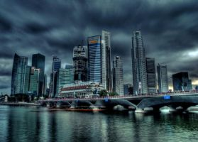 Raffles place by queenfunkyta