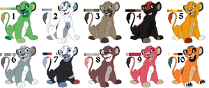 Lion Adopts - 3 left by smudge-92