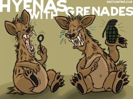 Hyenas with Grenades by GagaMan