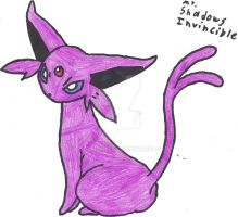 Espeon Sketch, Redone (Coloured) by CoolMan666