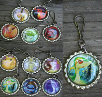Pokemon Bottle Cap Keychains by MythicalFolk