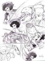 Boondocks sketches 4 by joodlez