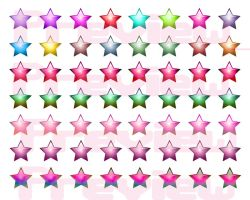 50+ Star Clip Art Icons Preview by DraconianRain