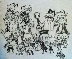 Invader Zim by seshiiria1993