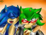 Sonic And Scourge: Doodle by shadowninja3