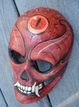 Paper mache devil mask by missmonster