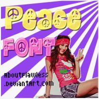 PEACE FONT' by AboutFlawless