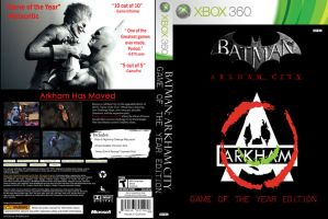 Batman Arkham City GOTY Edition Replacement Cover by paparoach23