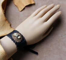 New leather bracelets - 11-7-13 by lupagreenwolf