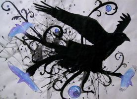 Abstract Raven by Music-Raven
