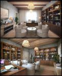 Wooden Office by kulayan3d