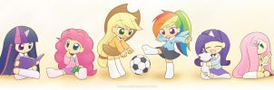 My Little Kindergarten mane 6 by HowXu