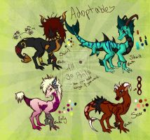 Repost-Dragon Adoptables-ALL GONE by xX-CupcakeMarrow-Xx