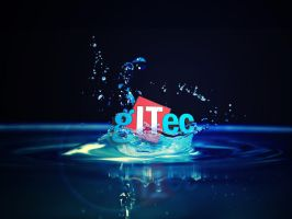 Gitec.ge 3D loogo With Water #2 by giozaga