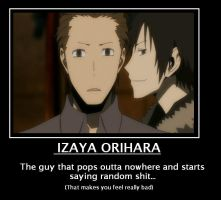 Izaya you meanie. by frickle-frackle