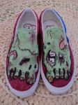 Zombie Shoes by DevouringCrayons