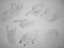Hand Studies by mrevilrose