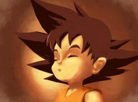 Kid Goku Paint practice by machinegunkicks
