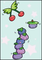 Wiggly blueberry tower by kevmofan