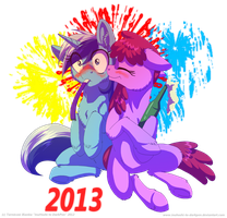 Happy New Year! - 2012-2013 by InuHoshi-to-DarkPen