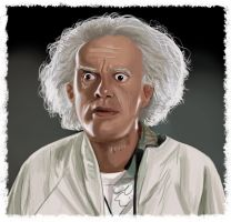Emmett Brown by fifoux