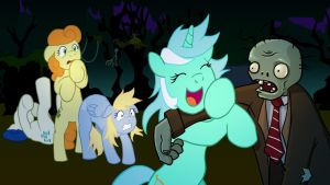 Ponies vs. Zombies by bipole